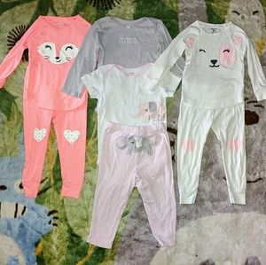 EUC Bundle of 3 Girl's 24 month PJ Sets